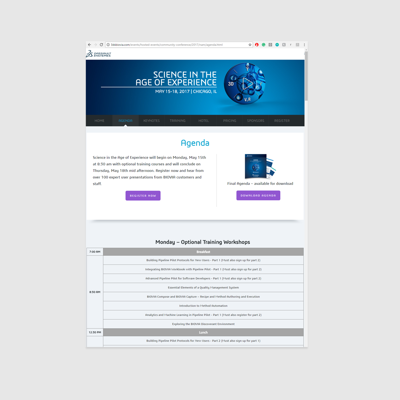 Biovia Event Website